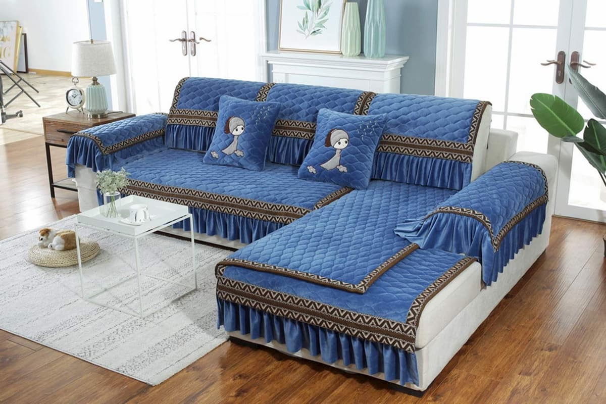 Sofá con chaise longue para 4 personas
